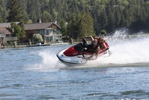 Fun Times at Big Bear Lake / There is plenty to do year around in Big Bear Lake - whether its on the slopes or at the Lake - rent a boat, jet ski or other water toy at one of the many marinas.  Parasail, fish, boating - whatever your heart desires!  www.DestinationBigBear.com  909-752-0234  Big Bear Lake Southern California