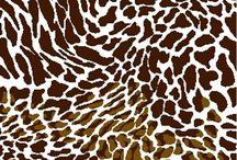 Safari Animal Prints / Animal Fur Pattern Fabrics for Sewing. Quilting and Crafting