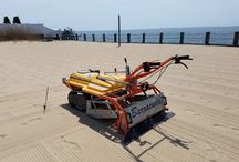 Beach Cleaning Machine - Sand Cleaning Tool - Clean Sands / Specialized beach cleaning equipment, beach cleaning tools that are environmentally friendly, light weight and easily maneuvered to owners or managers of any type of sand area. These beach cleaners are sand sifters that remove debris better than beach rakes, leaving clean sands. They remove cigarette filters, broken glass, syringes, can pop-tops, sea shells, stones or other debris.