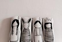 Muñecos almohadas