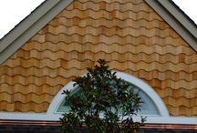 Creative cedar / Here are a few inspirational ideas for home exterior decorating with our red cedar shingles!