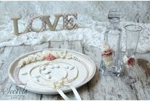Σετ γάμου-δίσκοι-καραφες-ποτηρια
