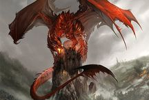 drako / dragon miniature figurine illustration
