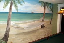 murales paesaggi cameretta