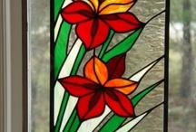 malované sklo / inspirace
