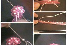Flor cinta con perla