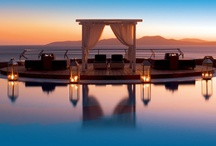Mykonos Grand Hotel & Resort / Mykonos Grand Hotel & Resort in Mykonos Island in Greece. A 5 star luxury beach resort offers the perfect setting for rare moments of romance, adventure, and excitement and memories to last a lifetime. Our luxurious resort is located on the beach of Agios Ioannis, just 4 km from Mykonos Town.