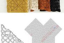 Roupas feitas com quadradinhos de croche