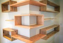 Interesting shelves, cabinets etc.