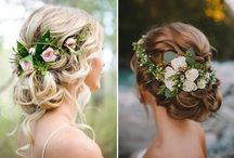 Hairstyles for brides and flower girls