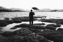 In Search of Red / A series of black & white photographs shot in June of 2015, at various locations within the Highlands of Scotland. Locations include Loch Tulla, Morar, Glencoe, Glasnacardoch & Loch Nan Uamh.  The 'In Search of Red' series was inspired by the poemLeisure, by W. H. Davies. The words echo just how hectic life can be, how quickly it passes,how we can miss the simple beauties, right in frontof our eyes if - wehave no time to stand and stare.