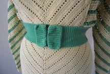 1930s crochet chevron dress