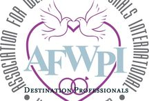 AFWPI Travel Agents / Members that can assist you in getting to your awesome location. Some are wedding planners, others will connect you to the planner.  While we have agents in many states, if one is not by you, pick one close to you as they can assist. Aside from the afwpi Code of ethics, Travel agents may have additional credentials.  DWSHA is one of them,
