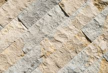 grey limestone split face