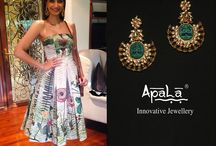Fashion Icon Sonam Kapoor flaunts earrings from Apala by Sumit from the new Zen Fusion collection.