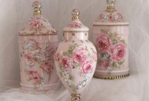Shabby Cottage Chic Roses & Pink