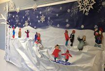 zimowa dekoracja klasy