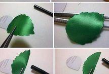 hojas de tela