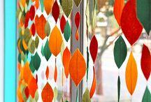 rideau de feuilles