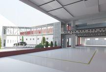 Reforma Complejo Industrial / Diseño y anteproyecto para reforma de complejo industrial. La reforma consiste en una ampliación de espacios, creación de salas de reuniones, showroom, mejora de accesos.