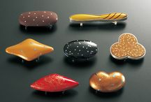 Japanese lacquer contemporary jewelry
