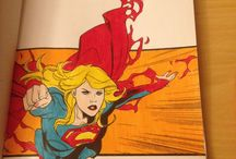 Coloring DC: Supergirl Adult Coloring Book / Pictures that I Have Colored In