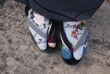 足袋草履和物