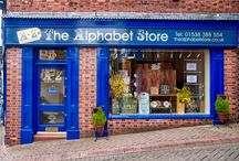 The Alphabet Store (Leek) / An over view of my shop and my web site