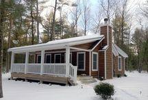 Micro Cottage Houses by Catskill Farms / Micro #Cottages by #CatskillFarms - #CatskillsRealEstate, #SaugertiesRealEstate, #CatskillRealEstate, #construction, #architecture, #SullivanCountyArchitecture, #UlsterCountyArchitecture, #DutchessCountyArchitecture