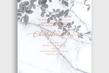 Romantic/modern invitations