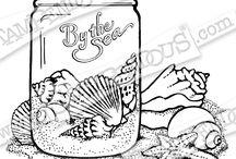 Stampendous Seashells in a Jar