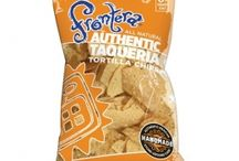 Frontera Tortilla Chips / Our handmade tortilla chips have the crunch of tradition, the satisfaction of a crispy, authentic mouthful. We start by grinding freshly cooked corn to make the dough for our perfectly baked tortillas. Then, we gently fry those tortillas into crisp, golden triangles and add a sprinkling of sea salt. Different from most tortilla chips.