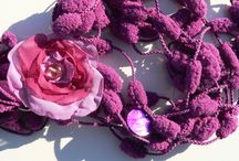NECKLACES HANDMADE  by Luciana Torre / on sale at my SHOP:  http://it.dawanda.com/shop/ceramica-accessori-dipinti-Luciana-Torre