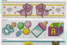 Ponto cruz bebé / Gráficos de ponto de cruz