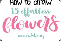 Flowers-how to draw