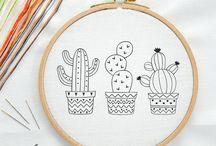 Embroidery, bordados e riscos.