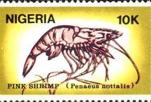 Crustacean stamps