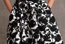dresses black and white