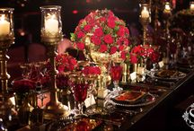 Red & Gold Wedding Theme