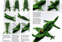 Pletení z papíru-Zvířata
