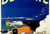 LES VOITURES SUR LES AFFICHES / vintage cars automobiles posters