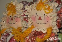My Raggedy dolls & other.