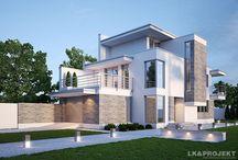 Małe domy w stylu nowoczesnym / Projekty niewielkich domów w stylu nowoczesnym autorstwa LK&Projekt
