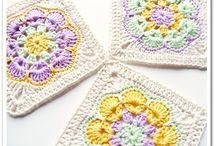 Square Flower Motifs Crochet