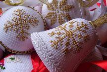 ozdoby choinkowe haft krzyzykowy