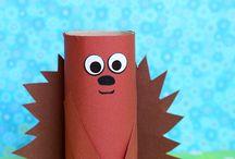 Crafts - Kids - paper rolls
