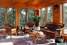 Sun Rooms / Appalachian Log & Timber Homes Client Sun Room Gallery
