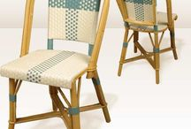 chaise rotin bistrot