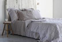 Bedroom grey white
