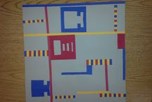 Piet Mondrian - Art projects for kids & K-8 students / Piet Mondrian - Curriculum & Art Projects for Kids Art Elements Taught Balance Art Activity Emphasis Designs Showing Line, Color, Balance Student